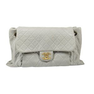 Chanel Grey Quilted Flap Bag